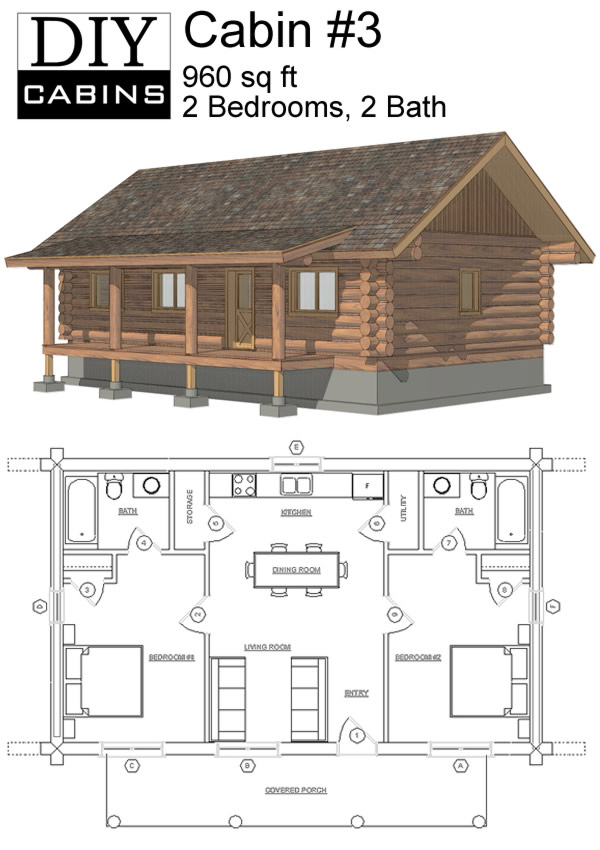 1000 images about someday a cabin on pinterest floor for Simple log cabin plans free